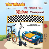 Omslag - The Wheels -The Friendship Race (English Swedish Bilingual Book for Kids)