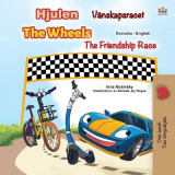 Omslag - The Wheels -The Friendship Race (Swedish English Bilingual Children's Book)