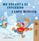 Omslag - I Love Winter (Spanish English Bilingual Children's Book)