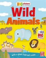 Omslag - Big Stickers for Tiny Hands: Wild Animals