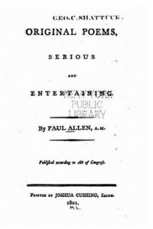 Original Poems, Serious and Entertaining av Paul Allen (Heftet)