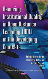 Omslag - Assuring Institutional Quality in Open Distance Learning (ODL) in the Developing Contexts