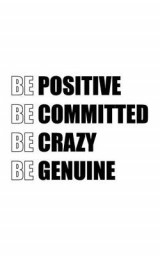 Omslag - Be Positive Be Committed Be Crazy Be Genuine