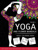 Omslag - Yoga and Flower Mandala Adult Coloring Book