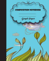 Omslag - Graph Rued Composition Notebook 8 X 10,120 Pages, Fish Potter Style Seamless