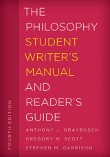 Omslag - The Philosophy Student Writer's Manual and Reader's Guide