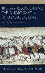 Omslag - Literary Research and the Anglo-Saxon and Medieval Eras