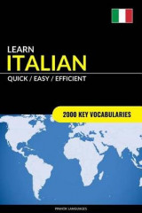 Omslag - Learn Italian - Quick / Easy / Efficient