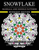 Omslag - Snowflake Mandala and Doodle Pattern Coloring Book Midnight Edition Vol.3