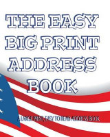 Omslag - The Easy Big Print Address Book