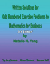 Omslag - Written Solutions to Odd Numbered Exercise Problems to Mathematics for Business