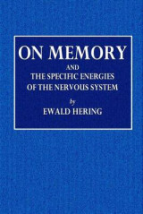 Omslag - On Memory and the Specific Energies of the Nervous System