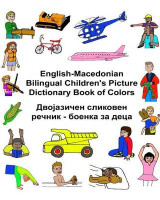 Omslag - English-Macedonian Bilingual Children's Picture Dictionary Book of Colors
