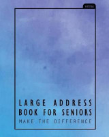 Omslag - Large Address Book for Seniors