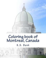 Omslag - Coloring Book of Montreal, Canada