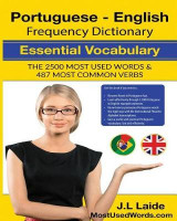 Omslag - Portuguese English Frequency Dictionary - Essential Vocabulary