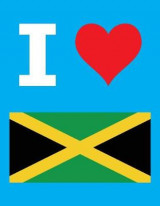 Omslag - I Love Jamaica - 100 Page Blank Notebook - Unlined White Paper, Cyan Cover