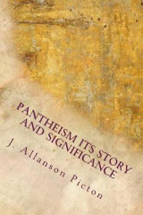Omslag - Pantheism Its Story and Significance