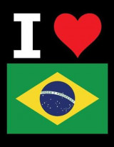Omslag - I Love Brazil - 100 Page Blank Notebook - Unlined White Paper, Black Cover
