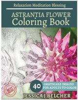 Omslag - Astrantia Flower Coloring Book for Adults Relaxation Meditation Blessing