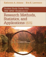 Omslag - Student Study Guide With IBM (R) SPSS (R) Workbook for Research Methods, Statistics, and Applications 2e