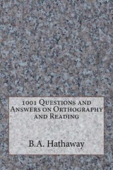 Omslag - 1001 Questions and Answers on Orthography and Reading
