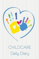 Omslag - Child Care Daily Diary, Blue Heart.