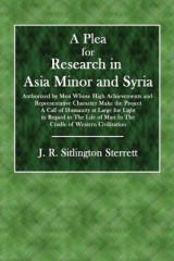 Omslag - A Plea for Research in Asia Minor and Syria