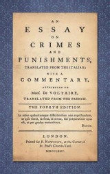 Omslag - An Essay on Crimes and Punishments