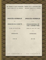 Omslag - Proces-Verbaux of the Proceedings of the Committee June 16th-July 24th 1920