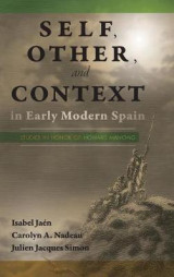Omslag - Self, Other, and Context in Early Modern Spain
