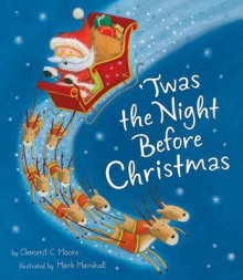 Twas the Night Before Christmas av Clement Clarke Moore (Innbundet)