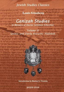Genizah Studies in Memory of Doctor Solomon Schechter: Geonic and Early Karaitic Halakah (Volume 2) av Louis Ginzberg og Rabbi Burton L. Visotzky (Innbundet)