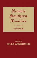 Omslag - Notable Southern Families. Volume III