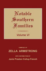 Omslag - Notable Southern Families. Volume VI