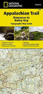 Appalachian Trail, Damascus To Bailey Gap, Virginia av National Geographic Maps (Kart, falset)