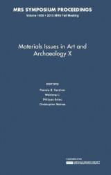 Omslag - Materials Issues in Art and Archaeology X: Volume 1656