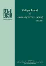 Omslag - Michigan Journal of Community Service and Learning