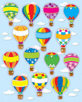 Omslag - Hot Air Balloons Shape Stickers