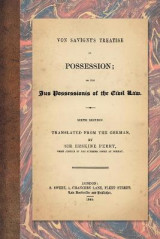 Omslag - Von Savigny's Treatise on Possession