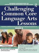 Omslag - Challenging Common Core Language Arts Lessons (Grade 8)