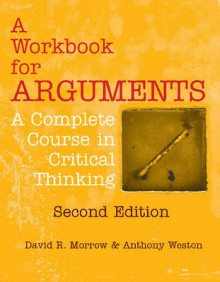 A Workbook for Arguments av David R. Morrow og Anthony Weston (Heftet)