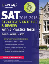 Omslag - Kaplan SAT Strategies, Practice, and Review 2015-2016 with 5 Practice Tests