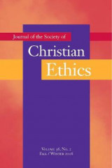 Omslag - Journal of the Society of Christian Ethics Fall/Winter 2016: Volume 36, No. 2