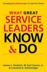 Omslag - What Great Service Leaders Know and Do