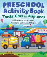 Omslag - Trucks, Cars, and Airplanes Preschool Activity Book