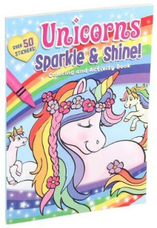 Unicorns Sparkle & Shine! Coloring and Activity Book av Editors of Silver Dolphin Books (Heftet)
