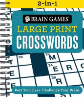 Brain Games 2-In-1 Large Print Crossword Puzzles (Spiral)