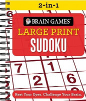 Brain Games 2-In-1 Large Print Sudoku (Spiral)