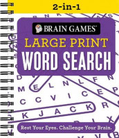 Brain Games 2-In-1 Large Print Word Search (Spiral)